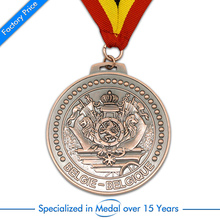 china factory Customized Antique brass Stamping Souvenir Medal cheap custom old color medals with ribbons
