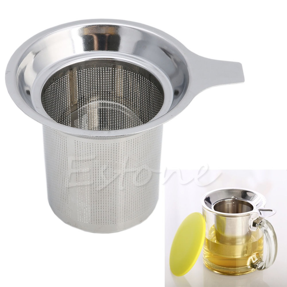 Ny 1Pc Chic Rustfritt Stål Mesh Tea Infuser Metal Cup Strainer Tea Leaf Filter Sieve