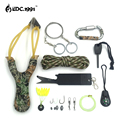 12 in1 Outdoor Camping Equipment Survival Kit Paracord 550 With Knife Flint Carabiner Edc Tools for compass Wire Saw