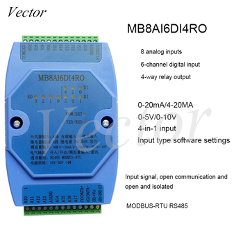 8-channel Analog Input 6-channel Switch Input 4-channel Relay Output Acquisition Module RS485 MODBUS MB8AI6DI4RO