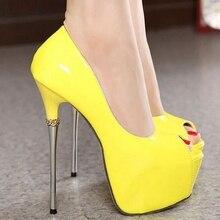 ผู้หญิงหนังสิทธิบัตรมากส้นสูงแพลตฟอร์มแต่งงานรองเท้าเจ้าสาวผู้หญิงส้นเปิดนิ้วเท้าปั๊มMyu139-c12