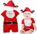 PPY-81, новорожденных девочек мальчиков рождество комбинезон для новорожденных детей одежды Санта-Клауса одежду bebe новогодние костюмы для детей