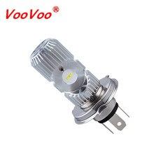 VooVoo – phares de moto H4 HS1 H4, lampes blanches pour café racer, BA20D, 6500K