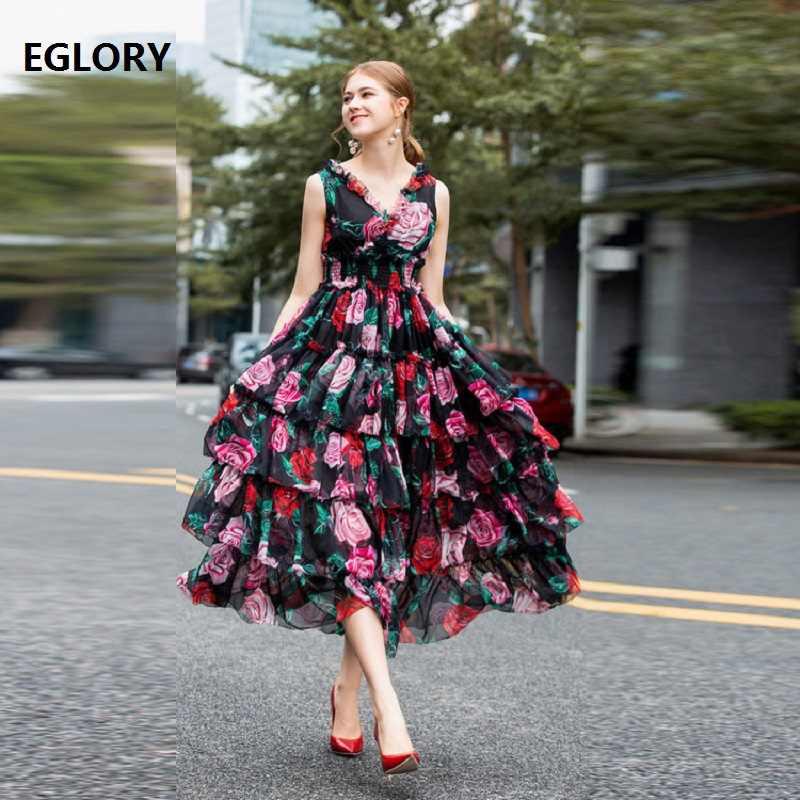 0e63f72412930 Top Quality Designer Dress 2019 Spring Summer Party Long Dresses ...