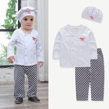 c906470b26abd Baby Boy Girl's Rompers Halloween Cook Chef Costume Top+Pants+Hat Set Fancy  Dress