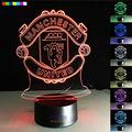 Club de fútbol 3D Visual Noche de Luz LED de 7 Colores Cambiantes de Fútbol bola de Luz USB Lámpara de Mesa de La Novedad como Decoración de Cabecera Lampara