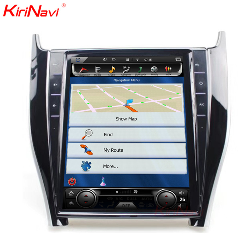 KiriNavi Vertical Screen Tesla Style 12.1 Inch Android 7.1 Car Radio For Toyota Harrier Dvd GPS Navigation Bluetooth Wifi 4G