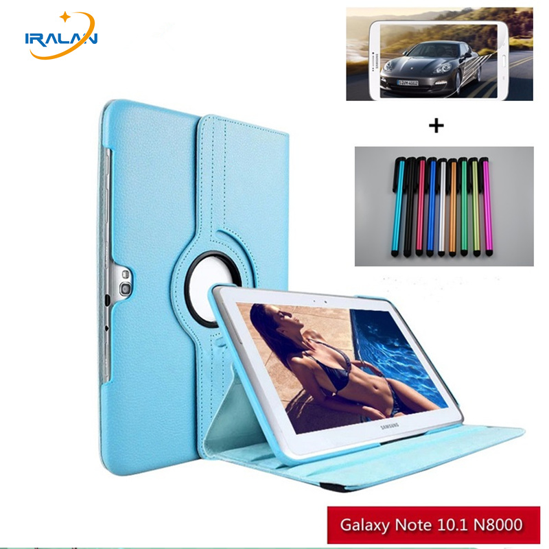 360 Degree Rotating Litchi Grain Folio Stand PU Leather For samsung Galaxy Note 10.1 N8000 N8010 N8020 N8013 tablet case+3 in 1 tablet case for samsung galaxy note 10 1 n8000 n8005 n8010 n8013 case cover couqe hulle funda shell custodie