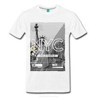GILDAN Smiley World New York City Statue Of Liberty Men S T Shirt Design T Shirt