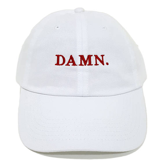 Kendrick Lamar Music Album DAMN. American Rapper Hat Pure Cotton Baseball Cap Embroidery adjustable Snapnback Hip Hop Style DAMN
