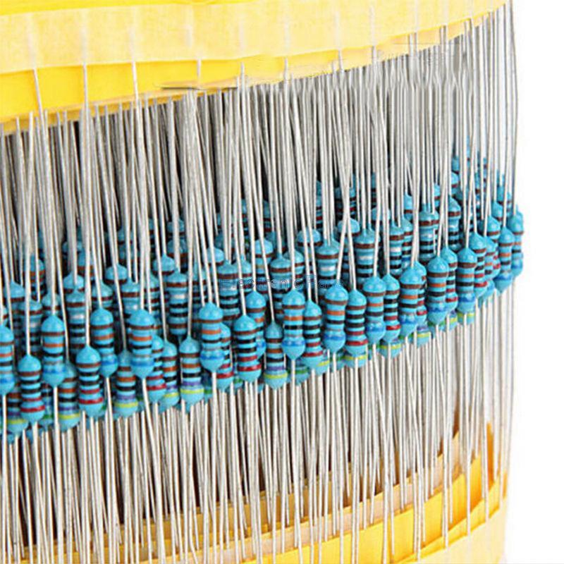 1 paquete 400 Uds 1/4w resistencia 1% película metálica resistencia surtido Kit conjunto 20 tipos cada 20 piezas