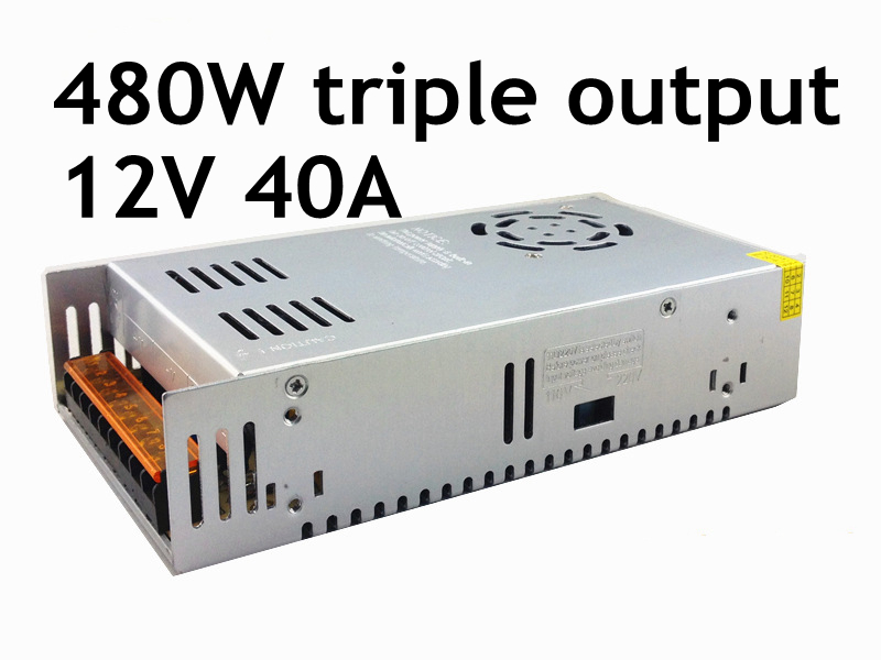 12V 40A 480W high-power switching power supply input AC 100-240V LED light strip display monitor power supply 480w 500w led switching power supply 12v 40a power supply 12v output 85 265ac input free shipping