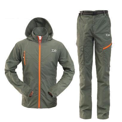 Nouveau homme été pêche Trekking séchage rapide cyclisme chemise randonnée chemise pantalon Sport Camping respirant Climing voyage pêche costume