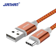 ФОТО usb type-c cable for samsung charger cable type c cable braided 2a fast charger data sync cord for xiao mi mi5 oneplus nexus