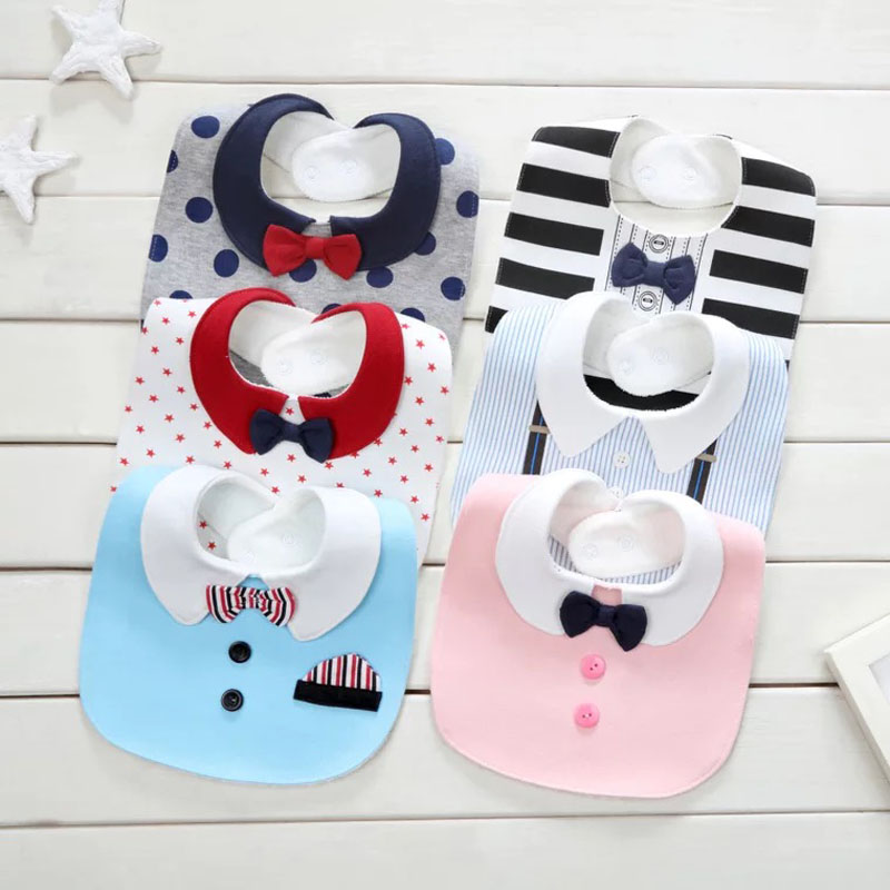 Bib Baby Bibs Babador Nyfødt Baberos Breastplate Vanntett Cotton - Baby klær