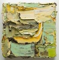 Lo nuevo Original Cuchillo Hecho A Mano Del Paisaje 3D Estilo Abstracto Verde Gruesa Pintura Al Óleo sobre Lienzo Para la Decoración del Hogar Del Arte de La Pared
