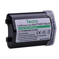 Tectra 1 pièces 3000 mAh EN-EL4 EN-EL4A Batterie pour Nikon D2H D2Hs D2X D2Xs D3 D3S F6 MH-21 ENEL4 ENEL4A EN EL4A EN EL4 Batterie