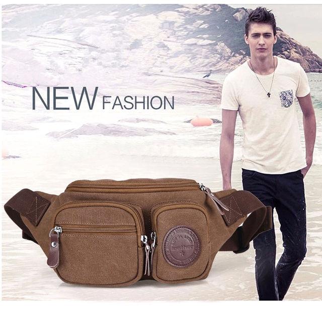 2016 Retro Men Bag Durable Waterproof Crossbody Bag Waist Packs Male Waist Shoulder Bag Multi Purpose Travel Fanny Bag YB1-003