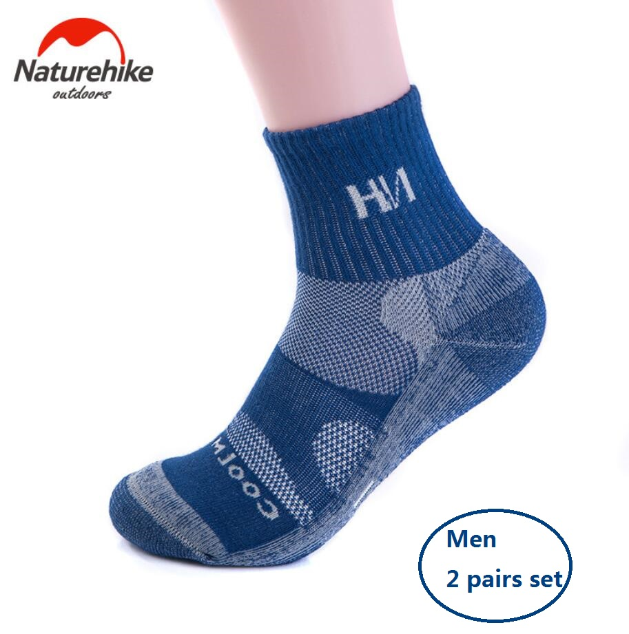 Naturehike factory Men trekking socks Sweat-absorbent breathable Quick-Drying sports Running climbing hiking Socks esdy 613 men s outdoor sports climbing detachable quick drying polyester shirt khaki l