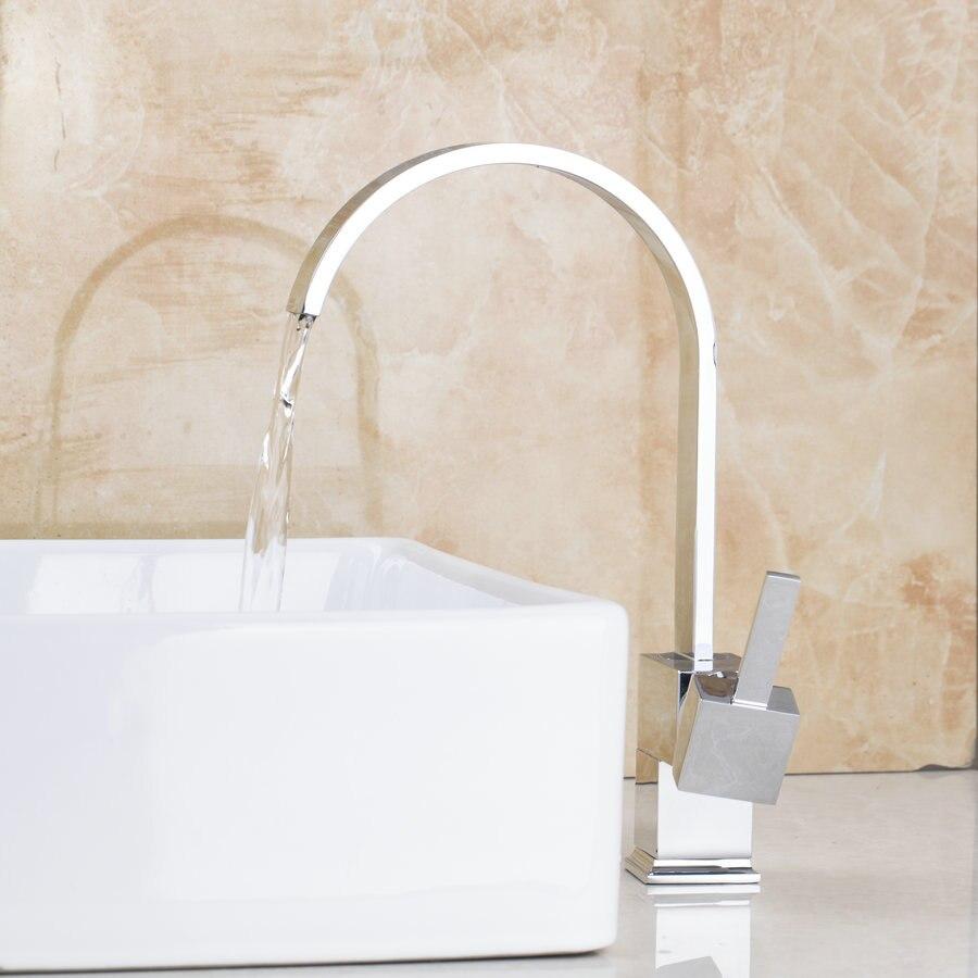 BEST Chrome Kitchen Faucet Vessel Sink Bar Mixer Tap Deck Mounted Kitchen Washbasin Faucets