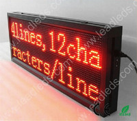 41inch P10 RED Color Outdoor LED display Boards 32*96 red 1040mm*400mm