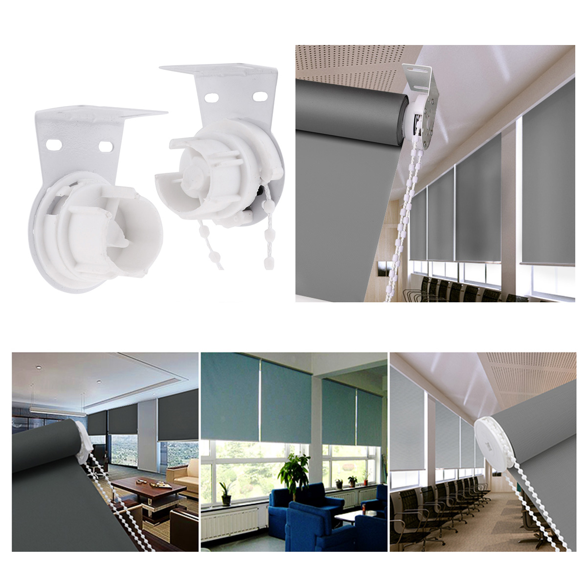 Curtain Roller Blind Shade Metal Core Clutch Bracket Cord