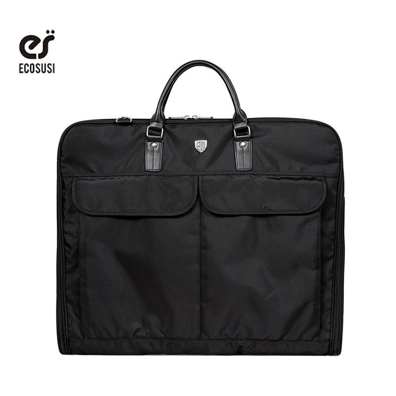 Ecosusi Travel Bag Black қара өткізбейтін ілгіш - Багаж және саяхат сөмкелері - фото 1