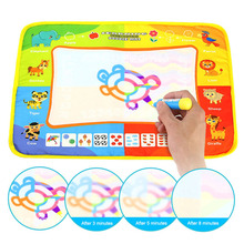 Children Magic Water Drawing Mat with Rainbow Color Swatches Painting Board Gift for Kids YJS Dropship