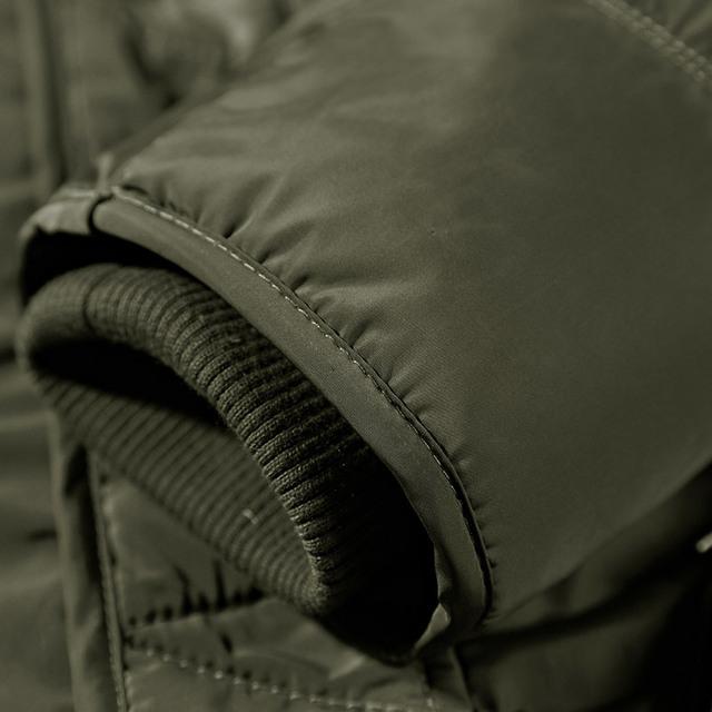 KENNTRICE Mens Winter Jacket Coats Male Parka Men Military Jacket Front Inside Pockets Fur Collar Hooded Long Coat Fashion Brand