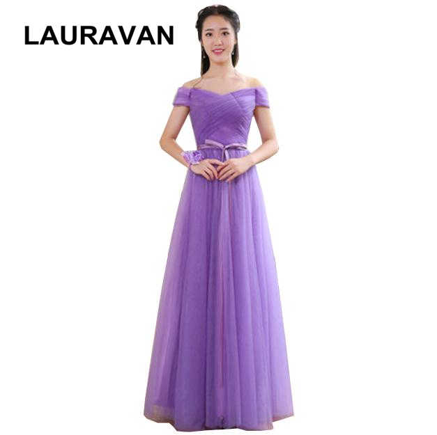 grecian plus size korean off the shoulder deep purple bridesmaid party  dresses 2019 elegant long dress ball gown for wedding