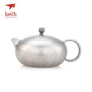 Keith Picnic Tableware Titanium Camping Travel Ultralight Hiking 250ml Pot Ti3921 Tea-Pot