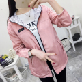 2017 spring both sides wear jacket women large size Windproof Coat female Korean student wave fur coat loose jacket