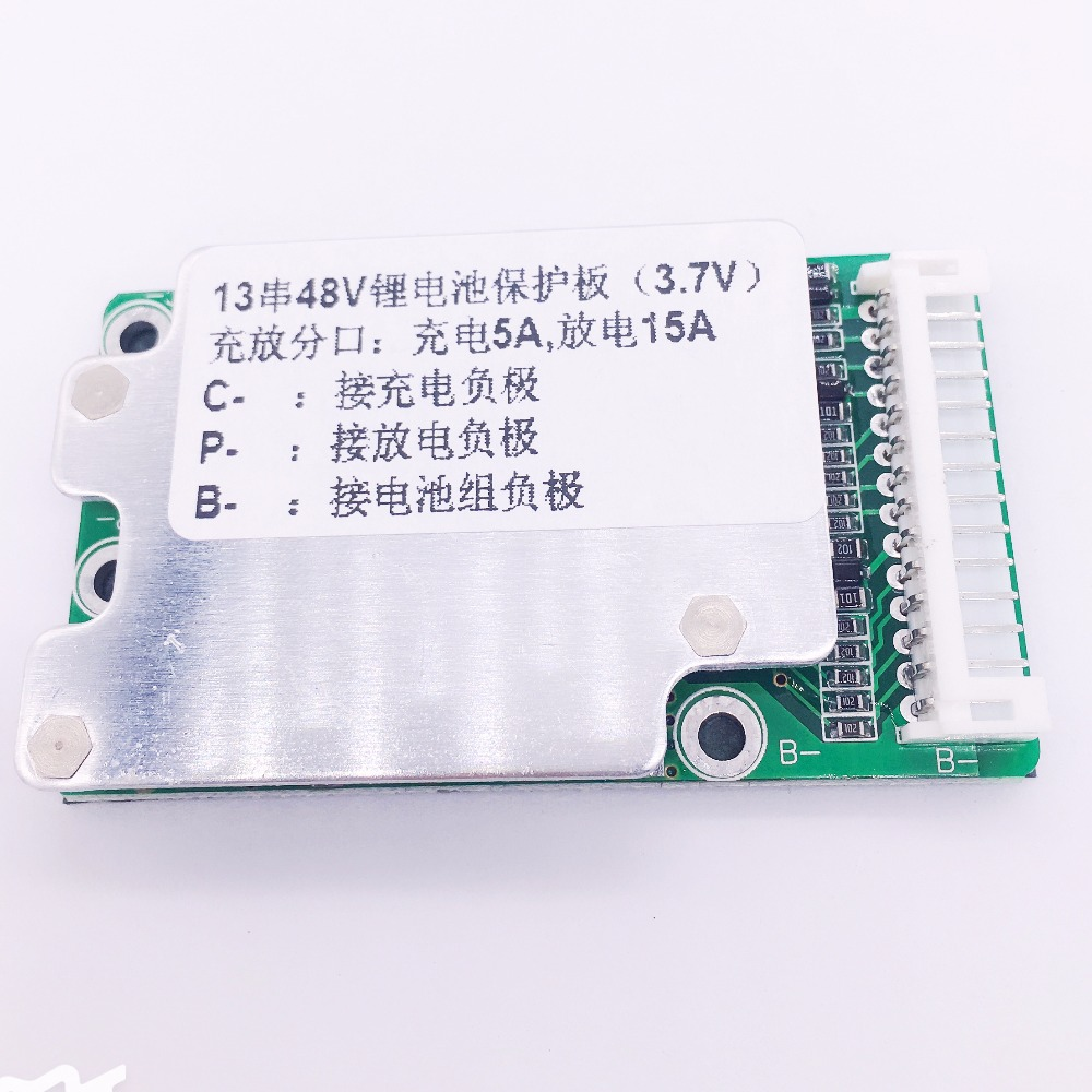 E-bike battery <font><b>13S</b></font> 48V Li-ion Lithium Cell <font><b>15A</b></font> 18650 Battery Protection <font><b>BMS</b></font> PCB Board Balance image
