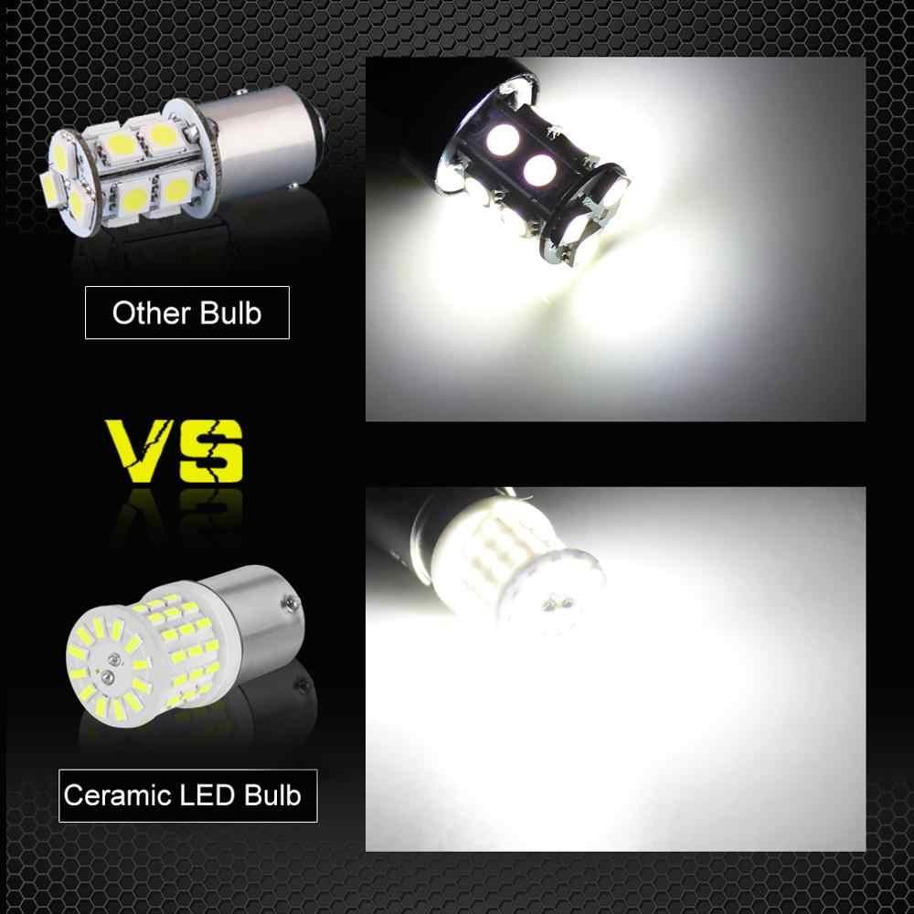 2 pçs novo 1156 ba15s p21w led 1157 bay15d p21/5 w lâmpadas led r5w carro sinal de volta luzes freio 1200lm branco 12 v lâmpada automóvel