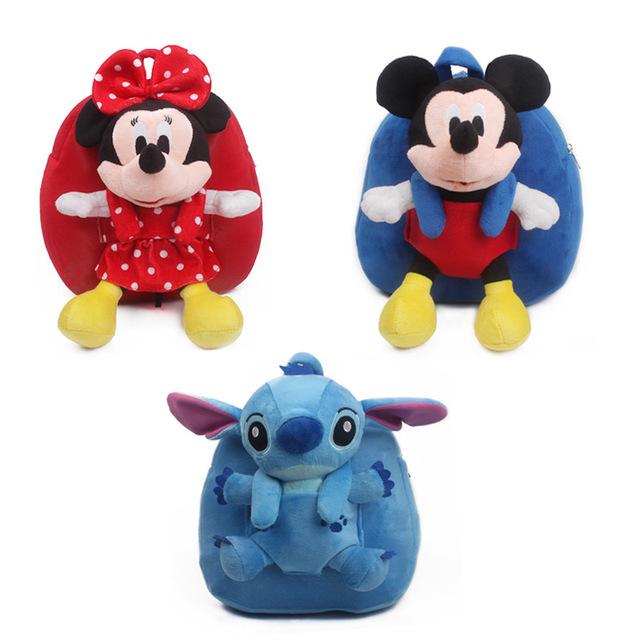 2016 Novos Sacos Para Crianças Bonito Dos Desenhos Animados Da Disney Mickey Minnie Ponto Mais Mochilas Mini School Bolsas Mochila Infantil Escolar Dj048