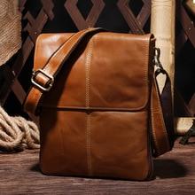 Genuine Leather Men Bag Fashion Leather Crossbody Bag Shoulder Men Messenger Bags Small Casual Designer Handbags Man Bags недорого