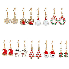Women's Drop&Dangle Earrings Gold Finishing Christmas Jewelry Crystal Snow Crystal Christmas T..