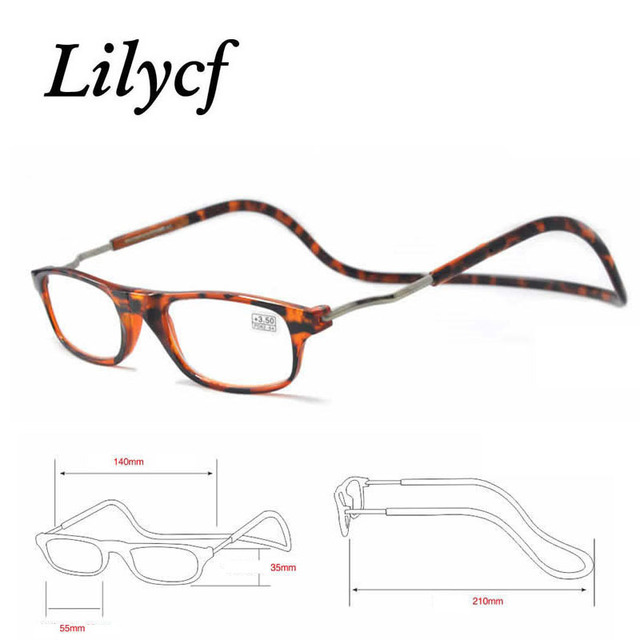 Fashion Magnet Old Man Glasses Anti-fatigue Glasses Anti-blue Light Trimming Comfortable New Unisex Hanging Neck Reading Glasses