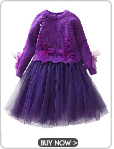 Girls Knitted Dress 2019 autumn winter Clothes Lattice Kids Toddler baby dress for girl princess Cotton warm Christmas Dresses