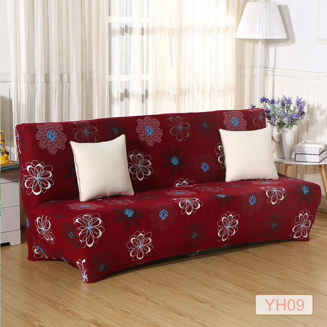 Line Shop Printing Flowers Checked Pattern Sofa Cover Slipcovers
