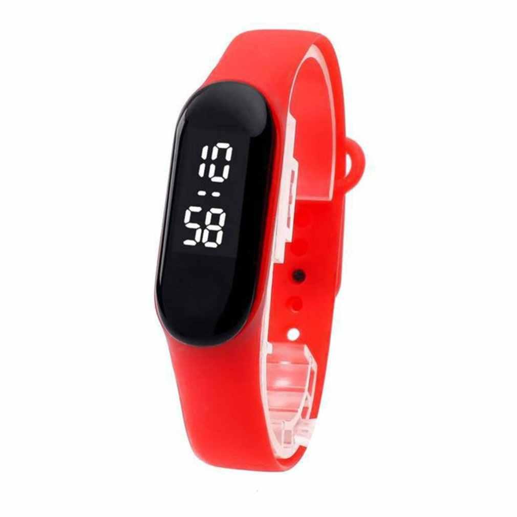 חדש M3 אופנה זוג סטודנט Led מקרית ספורט מגע אלקטרוני שעון דוחן 3 צמיד שעון מגמת אופנה רשת חגורת שעון