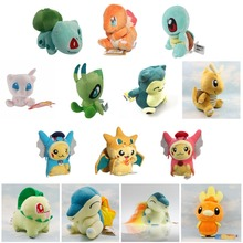 15 Style Mini Pikachu Charmander Bulbasaur Squirtle Snorlax Dragonite Cyndaquil Raichu Cartoon Figure Plush Toys Dolls Kids Gift