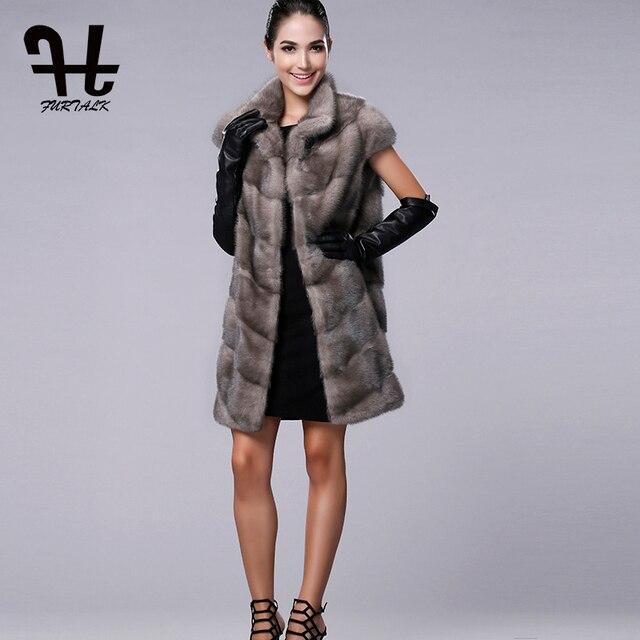 Aliexpress.com : Buy FURTALK 100% Real Mink Fur Vest Long Women ...