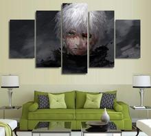 5 Panels Wall Art 5 Panels Wall Art Anime Tokyo Ghoul Ken Kaneki 5 Pieces Paintings Canvas Poster Unframed 5258