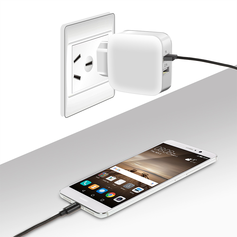 Suntaiho For iPhone/Samsung/Xiaomi /iPad/Huawei Travel Dual USB Charger Adapter Wall Portable Mobile Phone Charger EU Plug