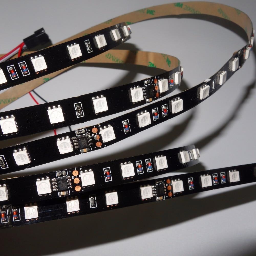5m DC24V WS2811 300LEDs (10pixesm)60ledsm(6leds as one pixel) led digital strip;non-waterproof;IP33;BLACK PCB
