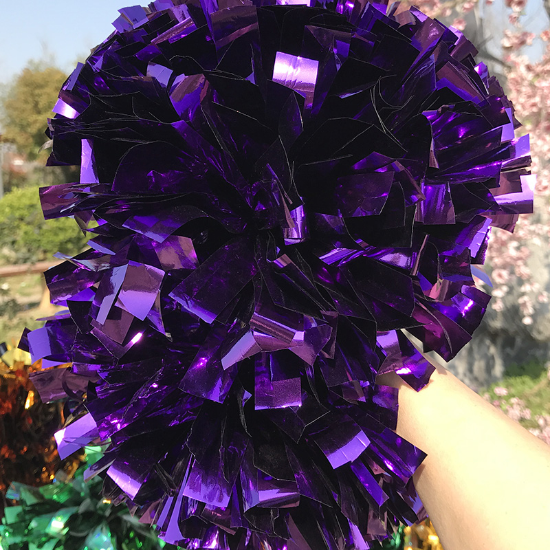 Free Fast Shipping Cheerleader Baton Handle Pom pom Double head Game Adult Cosplay 6 18pieces poms