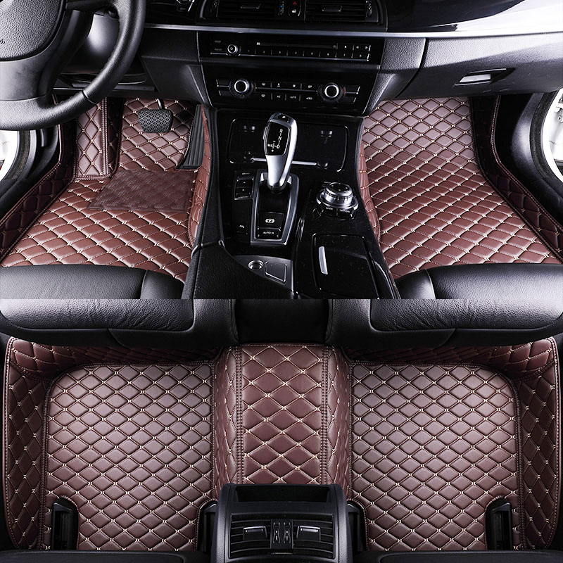 Set D Leather Car Floor Mats For Audi A PV Custom Car Mats - Audi car mats