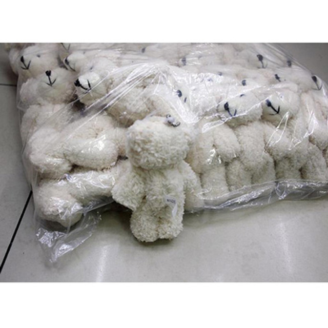 25PCS/LOT Kawaii Small Joint Teddy Bears Stuffed Plush With Chain 12CM Toy Teddy-Bear Mini Bear Ted Bears Plush Toys Gifts 023