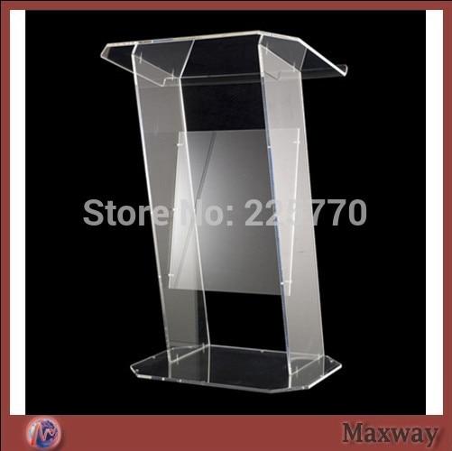 Multimedia Teaching Acrylic Lectern Brown podium / glass lectern acrylic desktop lectern acrylic classroom lectern podium acrylic podium products